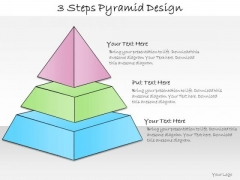 Ppt Slide 3 Steps Pyramid Design Strategic Planning
