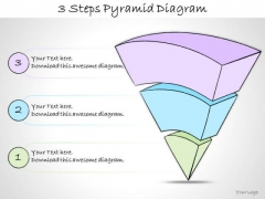 Ppt Slide 3 Steps Pyramid Diagram Strategic Planning