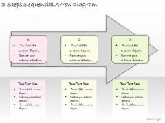 Ppt Slide 3 Steps Sequential Arrow Diagram Business Plan