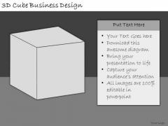 Ppt Slide 3d Cube Business Design Strategic Planning
