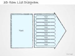 Ppt Slide 3d Item List Diagram Marketing Plan