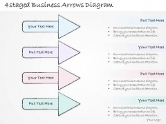 Ppt Slide 4 Staged Business Arrows Diagram Plan