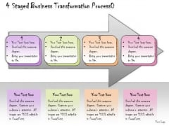 Ppt Slide 4 Staged Business Transformation Process Marketing Plan