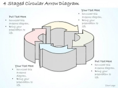 Ppt Slide 4 Staged Circular Arrow Diagram Marketing Plan