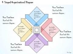 Ppt Slide 4 Staged Organizational Diagram Marketing Plan