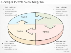 Ppt Slide 4 Staged Puzzle Circle Diagram Marketing Plan