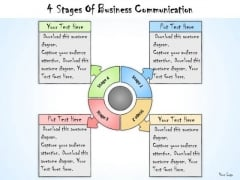 Ppt Slide 4 Stages Of Business Communication Sales Plan