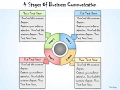 Ppt Slide 4 Stages Of Business Communication Sales Plan