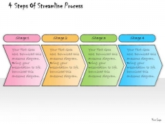 Ppt Slide 4 Steps Of Streamline Process Marketing Plan