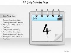 Ppt Slide 4th July Calendar Page Strategic Planning