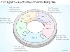 Ppt Slide 5 Staged Business Circle Puzzle Diagram Sales Plan