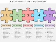 Ppt Slide 5 Steps For Business Improvement Plan