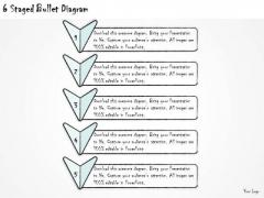 Ppt Slide 6 Staged Bullet Diagram Sales Plan