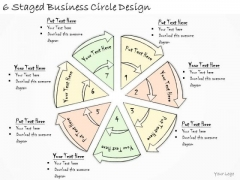 Ppt Slide 6 Staged Business Circle Design Diagrams