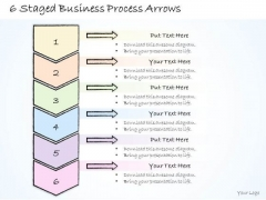 Ppt Slide 6 Staged Business Process Arrows Sales Plan