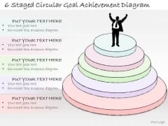 Ppt Slide 6 Staged Circular Goal Achievement Diagram Strategic Planning