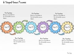 Ppt Slide 6 Staged Gears Process Marketing Plan