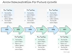 Ppt Slide Arrow Demonstration For Future Growth Sales Plan