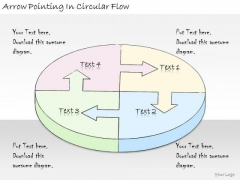 Ppt Slide Arrow Pointing Circular Flow Consulting Firms