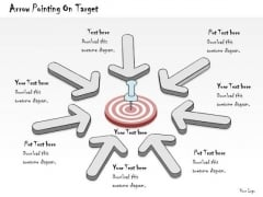 Ppt Slide Arrow Pointing On Target Sales Plan