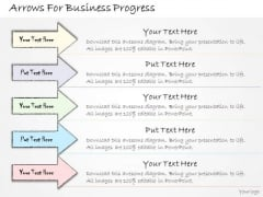 Ppt Slide Arrows For Business Progress Sales Plan