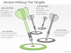 Ppt Slide Arrows Hitting The Targets Marketing Plan