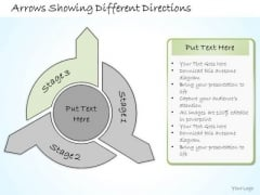 Ppt Slide Arrows Showing Different Directions Consulting Firms
