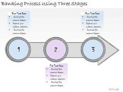 Ppt Slide Banking Process Using Three Stages Consulting Firms