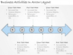 Ppt Slide Business Activities Arrow Layout Sales Plan