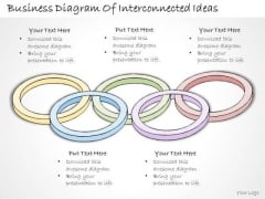 Ppt Slide Business Diagram Of Interconnected Ideas Strategic Planning