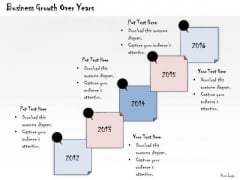 Ppt Slide Business Growth Over Years Consulting Firms