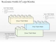 Ppt Slide Business Model Of Lego Blocks Diagrams