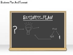 Ppt Slide Business Plan And Forecast Diagrams
