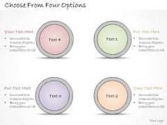Ppt Slide Choose From Four Options Strategic Planning