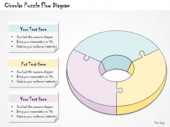 Ppt Slide Circular Puzzle Flow Diagram Business Diagrams
