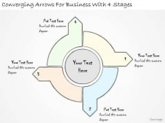 Ppt Slide Converging Arrows For Business With 4 Stages Strategic Planning