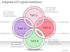 Ppt Slide Diagram Of Logical Relations Business Diagrams