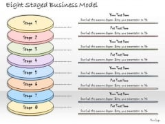 Ppt Slide Eight Staged Business Model Marketing Plan
