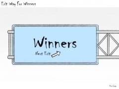 Ppt Slide Exit Way For Winners Consulting Firms