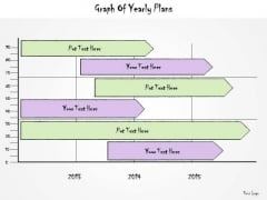 Ppt Slide Graph Of Yearly Plans Sales