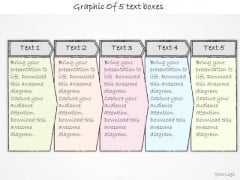 Ppt Slide Graphic Of 5 Text Boxes Business Plan