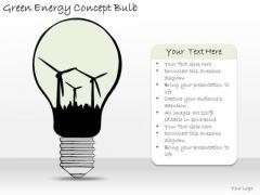 Ppt Slide Green Energy Concept Bulb Marketing Plan