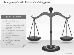 Ppt Slide Hanging Scale Business Diagram Consulting Firms