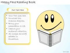 Ppt Slide Happy Face Reading Book Business Diagrams