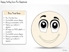 Ppt Slide Happy Smiley Icon For Happiness Business Diagrams