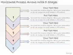 Ppt Slide Horizontal Process Arrows With 5 Stages Sales Plan