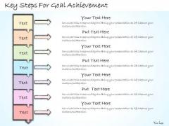 Ppt Slide Key Steps For Goal Achievement Business Plan