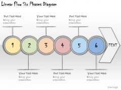 Ppt Slide Linear Flow Six Phases Diagram Marketing Plan