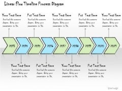 Ppt Slide Linear Flow Timeline Process Diagram Consulting Firms