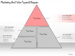 Ppt Slide Marketing And Sales Pyramid Diagram Plan